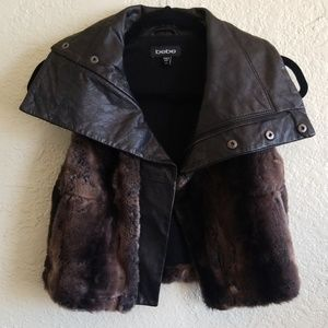 Bebe | Faux fur/leather vest